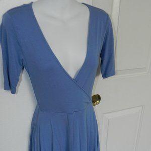 Forever 21 mock wrap dress, robin's egg blue